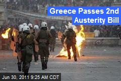 Greece Passes 2nd Austerity Bill