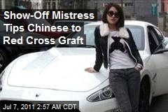 Show-Off Mistress Tips Chinese to Red Cross Graft