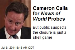 Cameron Calls for News of World Probes