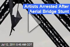 Performance Artists Seanna Sharpe, Savage Skinner Arrested After Williamsburg Bridge Aerial Stunt