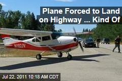 Small Plane Lands on Montana I-93 Highway After Fuel Mishap