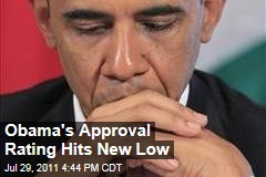Obama's Approval Rating Hits New Low of 40% With Gallup