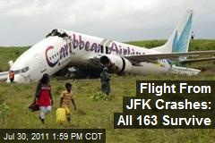 Flight From JFK Crashes: All 163 Survive