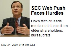 SEC Web Push Faces Hurdles