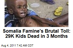 Somalia Famine's Brutal Toll: 29K Kids Under Age 5 Dead in 3 Months