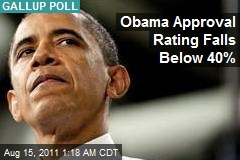 Obama Approval at Record Low