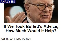 If We Did What Warren Buffett Recommends, How Much Would It Help?