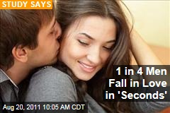 Romance and Relationships Study: Nearly 25% of Men Take Just &#39;Seconds&#39; to Fall in Love