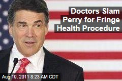 Doctors Slam Texas Governor Rick Perry Over Stem Cell Procedure