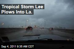 Tropical Storm Lee Rolls Into Louisiana, Mississippi