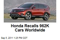 Honda Recalls 962,000 Cars Worldwide