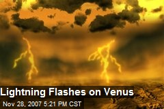 Lightning Flashes on Venus