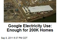 Google Energy Use: 2.26B kilowatt hours in 2010, enough for 200K homes