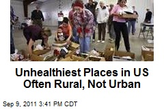 Unhealthiest Places in US Often Rural, Not Urban