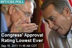 Congress&amp;#39; Approval Rating Lowest Ever