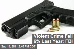 Violent Crime, Property Crime Keep Dropping: FBI