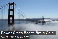 Power Cities Boast 'Brain Gain'