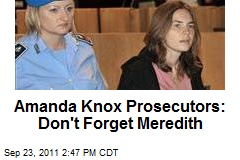 Amanda Knox Prosecutors: Don't Forget Meredith