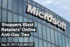 Shoppers Blast Microsoft, Apple for Ties to Anti-Gay Groups