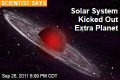 Solar System Kicked Out Extra Planet