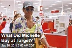 What Did Michelle Buy at Target?