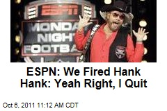 ESPN, Hank Williams Jr. Part Ways, But Who Ditched Who?
