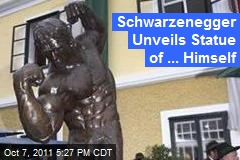 Schwarzenegger Unveils Statue of ... Himself