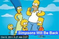 Simpsons Will Be Back