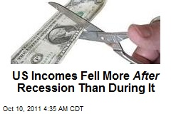 US Incomes Still Falling