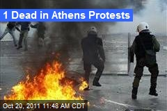 1 Dead in Athens Protests