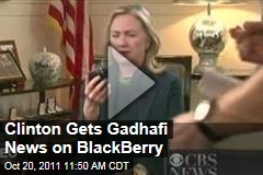 Hillary Clinton Reacts to News of Gadhafi's Death