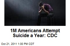 1M Americans Attempt Suicide a Year: CDC