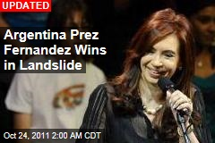 In Argentina, Fernandez Heads for Landslide Re-Election
