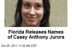 Florida Releases Names of Casey Anthony Jurors