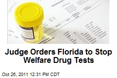 Federal Judge Orders Florida to Halt Drug Testing