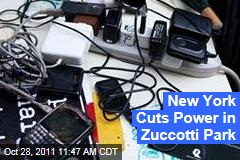 Occupy Wall Street's Generators Seized