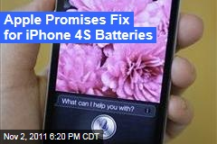 Apple Acknowledges Problem With Some iPhone 4s Batteries, Promises Fix