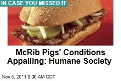 McRib Pork Supplier Smithfield Keeps Pigs in Appalling Conditions: Humane Society