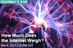 Weight of Electrons Running the Internet Estimated at 2 Ounces