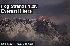 Fog Strands 1.2K Mount Everest Hikers
