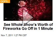 See Whole Show's Worth of Fireworks Go Off in 1 Minute