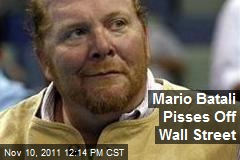 Mario Batali Pisses Off Wall Street