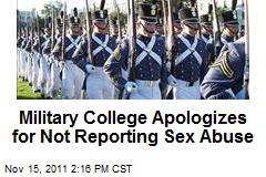 Military College Apologizes for Not Reporting Sex Abuse