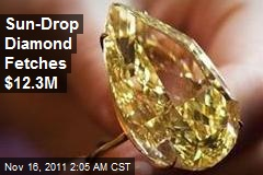 Sun-Drop Diamond Fetches $12.3M