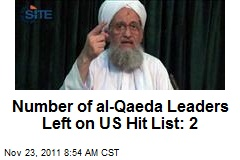 Number of al-Qaeda Leaders Left on US Hit List: 2