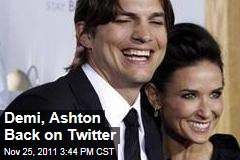 Demi Moore, Ashton Kutcher Back on Twitter for Thanksgiving