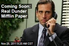 NBC's 'The Office' Company, Dunder Mifflin, to Offer Paper in Real World