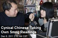 Cynical Chinese Taking Own Smog Readings