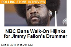 NBC Bans Walk-On Hijinks for Jimmy Fallon's Drummer