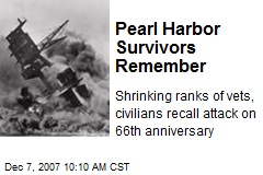 Pearl Harbor Survivors Remember